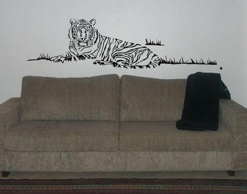 Художественная роспись стен в виде тигра