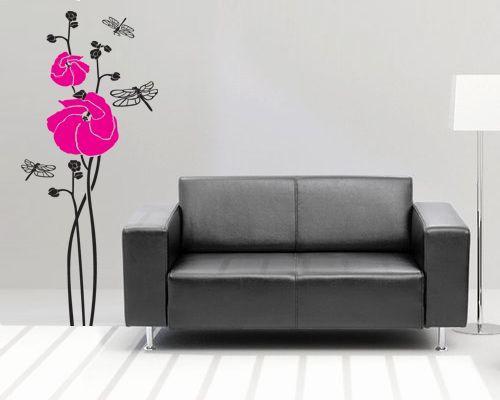 Художественная роспись стен в виде цветов