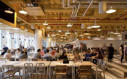 Кафетерий в офисе Google