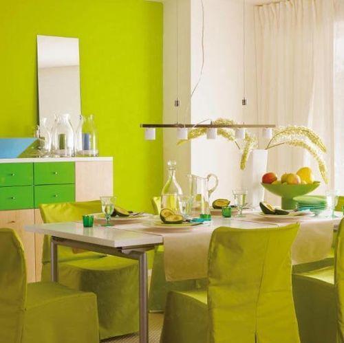 Весенний интерьер кухни дома и квартиры