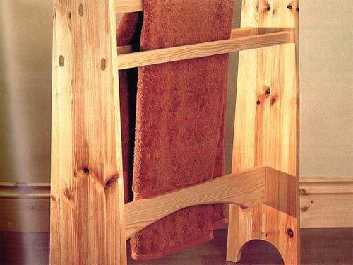 Деревянная вешалка для полотенец своими руками