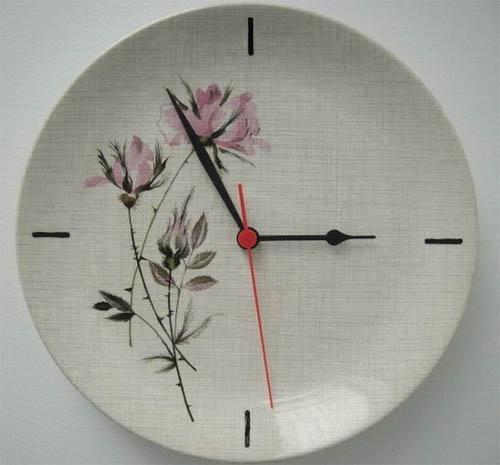 Часы с декоративной тарелки