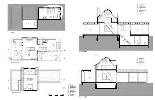 Santpoort Rail House. Проект