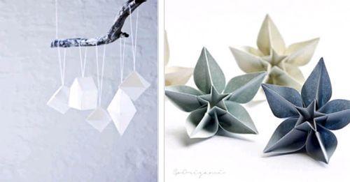 Новогодние украшения из бумаги для елки