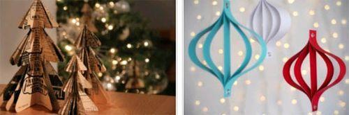 Новогодние украшения из бумаги просто и со вкусом
