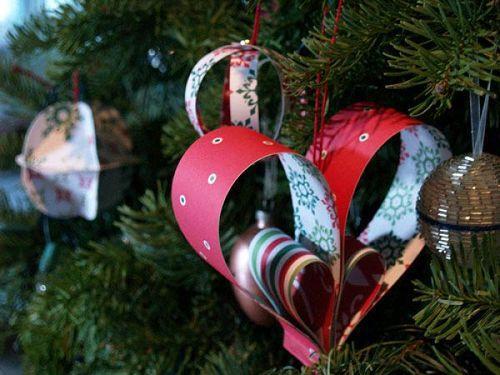 Новогодние украшения из бумаги на елку своими руками