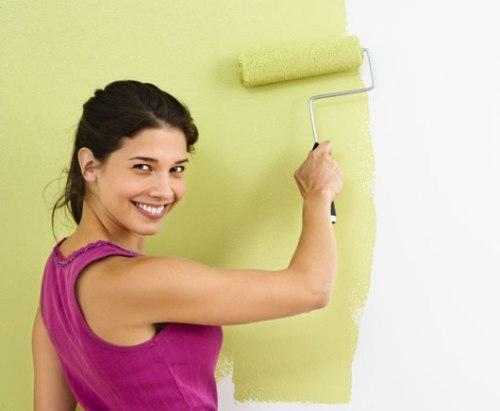 Этапы покраски стен