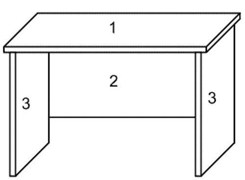 Последовательность сборки письменного стола