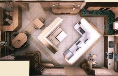 Планировка кухни. Выбор мебели