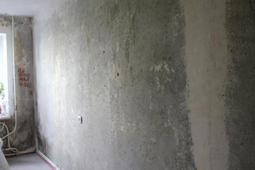 Стена после удаления обоев