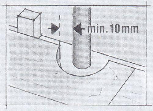 Укладка ламината возле трубы