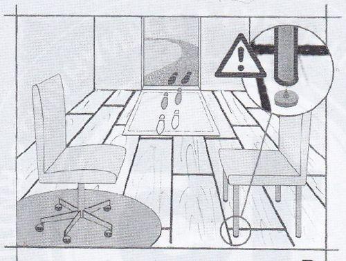 Установка мебели на ламинат