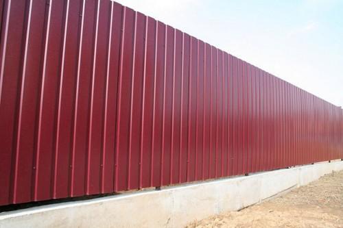 Забор из профнастила с ленточным фундаментом. Цена