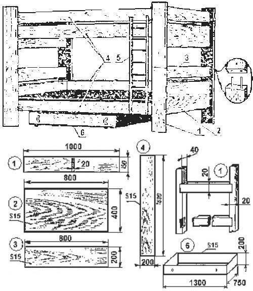 Простая двухъярусная кровать своими руками чертеж 704