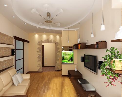 Визуально увеличиваем комнату за счет стен и потолка
