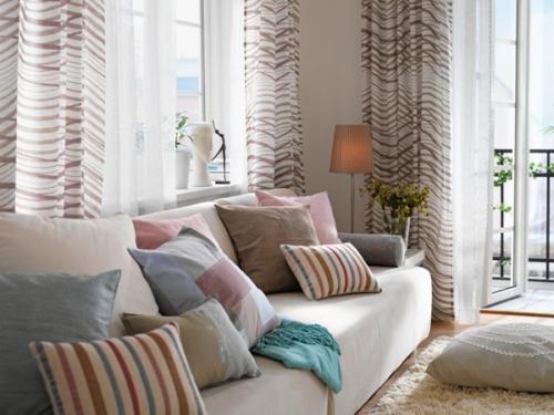 Визуально увеличиваем комнату с помощью текстиля