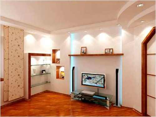 Правильное освещение дает иллюзию визуального увеличения комнаты