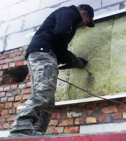 Утепление стены перед монтажом профнастила