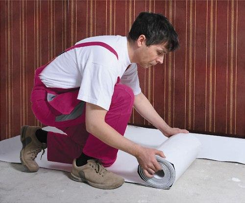 Правила укладки подложки под ламинат