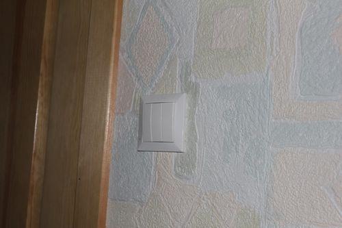 Установка выключателя в коридоре