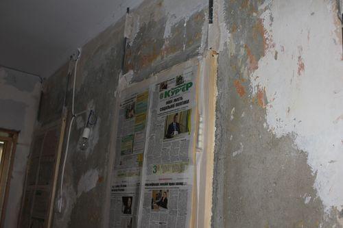 Защита дверей при оштукатуривании стен