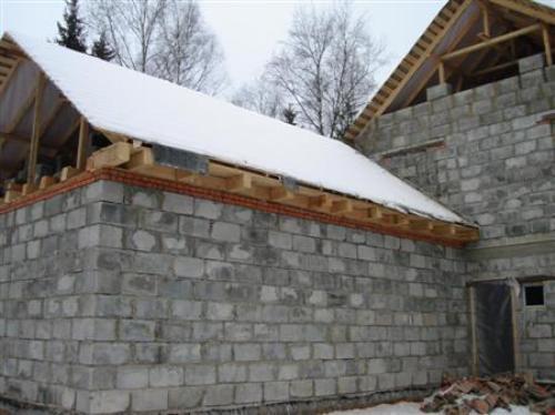 Крыша бани из пеноблоков своими руками инструкция по возведению 54