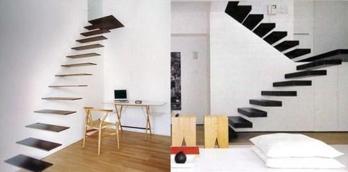 Лестница без косоуров