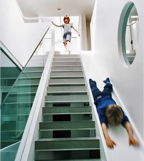 Необычные лестницы. Лестница - горка