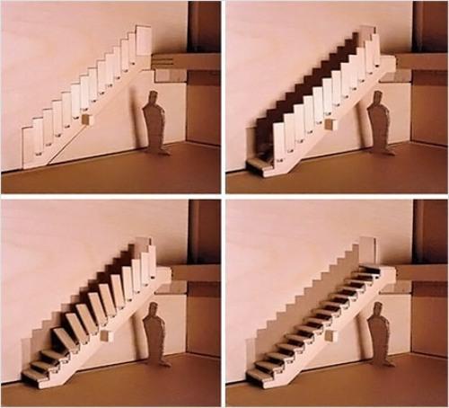 Необычные лестницы. Экономная лестница