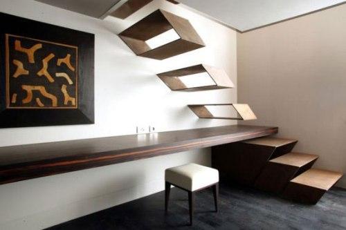 Лестница и стол