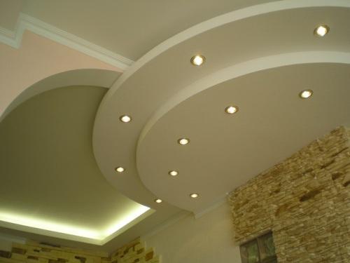 Двух- и многоуровневые потолки из гипсокартона