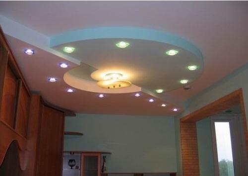 Особенности подсветки потолка из гипсокартона