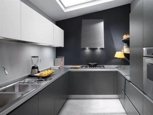 Серый цвет в интерьере кухни. Фото