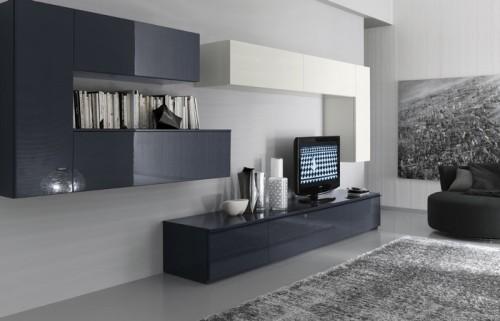 Серый цвет в интерьере гостиной. Фото