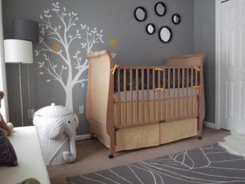 Серый цвет в интерьере детской