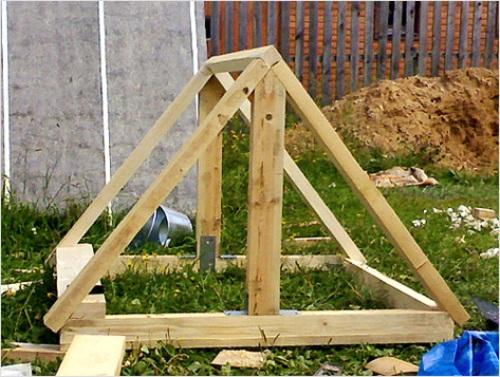 Конструкция домика для колодца
