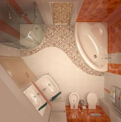 Интерьер ванной комнаты в хрущевке. Фото 12