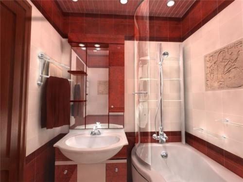 Интерьер ванной комнаты в хрущевке. Фото