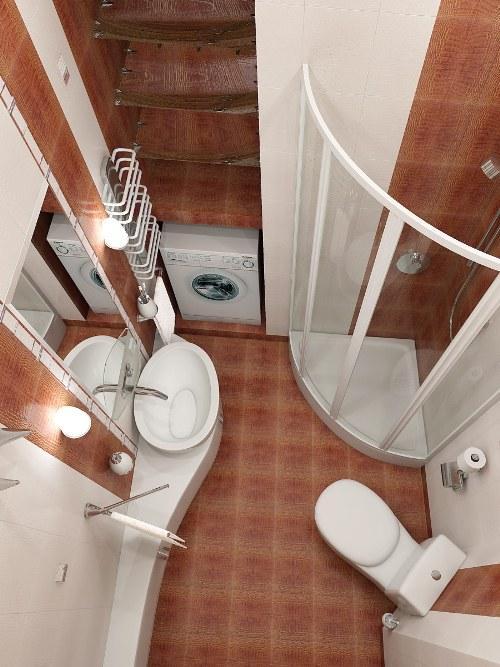 Интерьер ванной комнаты в хрущевке. Фото 4