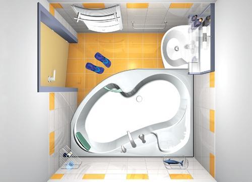 Интерьер ванной комнаты в хрущевке. Фото 6