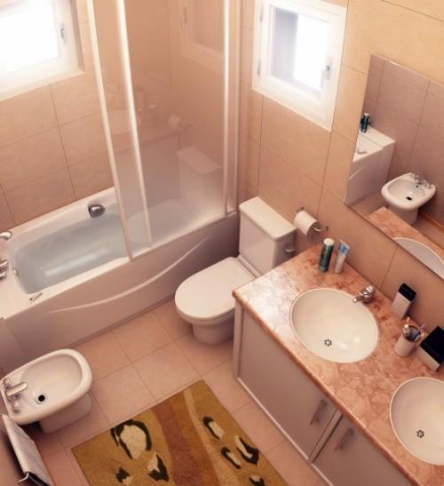 Интерьер ванной комнаты в хрущевке. Фото 7