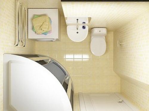 Интерьер ванной комнаты в хрущевке. Фото 9