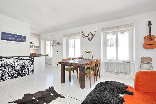 Интерьер комнаты в скандинавском стиле. Фото 3