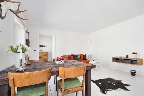 Интерьер комнаты в скандинавском стиле. Фото 5