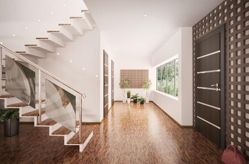 Интерьер холла с лестницей. Фото 3