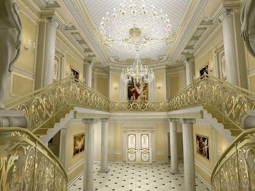 Как выбрать лестницу для холла?