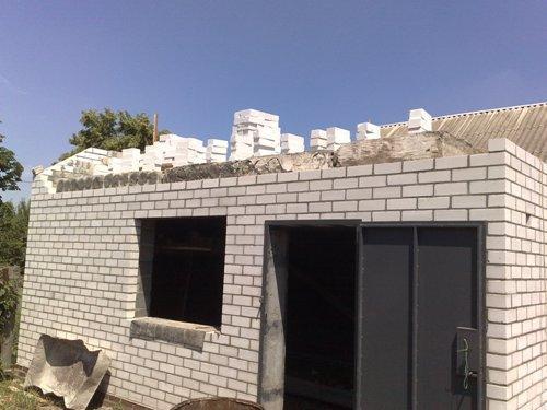 Перекрытие гаража пустотными плитами