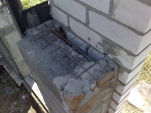 Армирование кладки стен гаража
