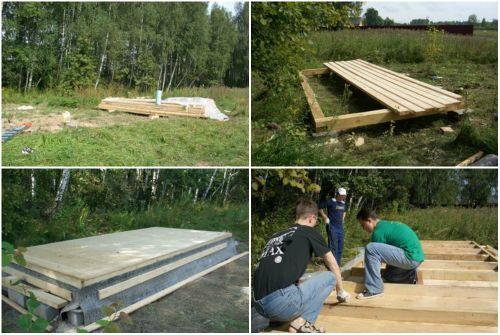 Сооружение фундамента и платформы дома