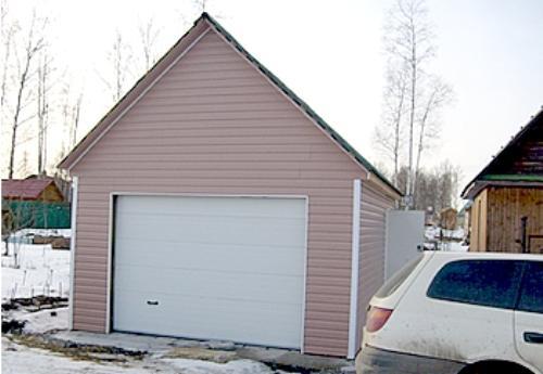 Каркасный гараж своими руками